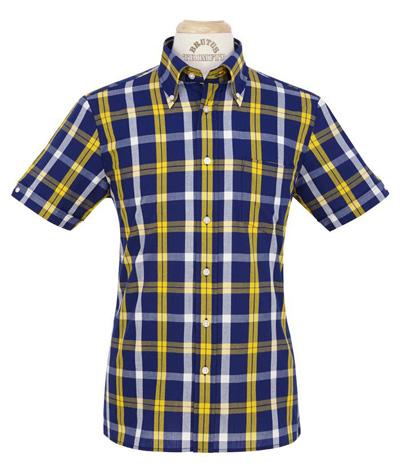 Brutus trimfit – Blå, gul & vit tartan (storrutig) — AMTY